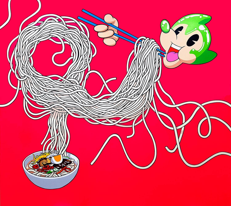 Dongi Lee, <em>Atomaus Eating Noodles,</em> 2020